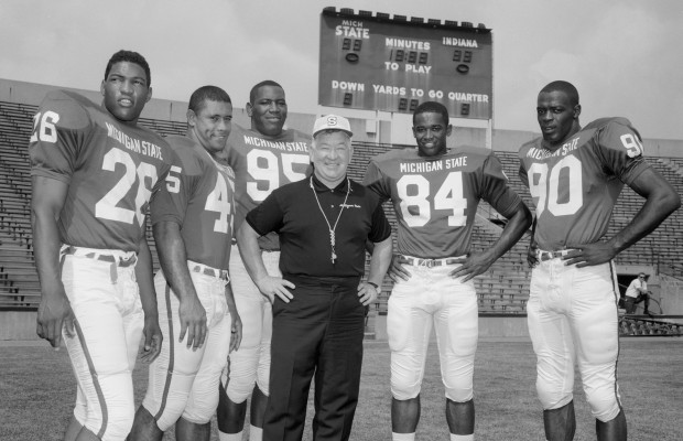 1966 All Americans with Duffy Daugherty