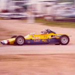 Chris Gleason is shown at speed in a Formula Ford in 1973. He won a Silver Medal at the SCCA National Runoffs that year.