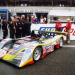 The No. 32 Roock-Knight Hawk Lola B2K/40 Nissan that Chris Gleason drove at the 24 Hours of Le Mans in Le Mans, France in 2001.