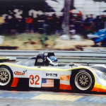 Chris Gleason at speed during the 2001 24 Hours of Le Mans, the most prestigious endurance sports car race in the world.