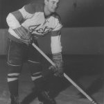 Don Hall, early in his career with the Johnstown Jets.