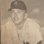 Ernie Oravetz Washington Senators baseball tight shot