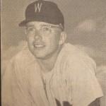 Ernie Oravetz Washington Senators baseball tight shot