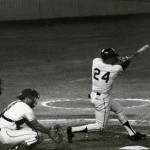 Frank Dezelan Ump Willie Mays 600th homer