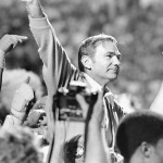 Frank Kush carried off field after final game with ASU.