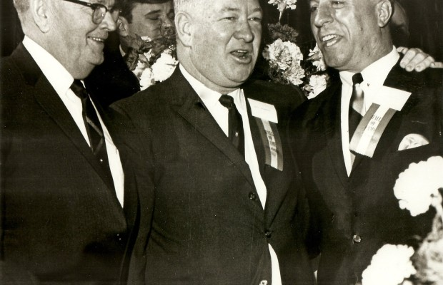 Fred Soisson & Duffy Daugherty & Augie Donatelli