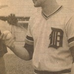 Gene Pentz early in his career with the Detroit Tigers.