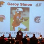Geroy Simon at the podium