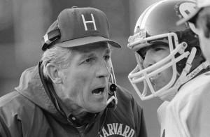 Joe Restic talks to his quarterback.
