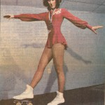 Kathy Frombach, artistic roller skating champion.