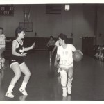 Maureen Latterner-Brown, Pitt-Johnstown guard in aciton.