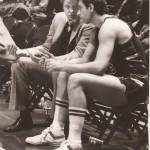 Pat Cummings listens to Milwaukee Bucks coach Don Nelson.