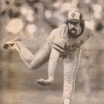 Pete Vuckovich follows through for the Brewers.
