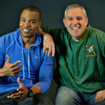 Artrell Hawkins, left, with broadcast partner Andy Furman