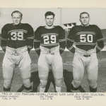 University of Maryland 1939 All-State selections, left to right, George Lawrence, Joe Murphy and Ralph Albarano.