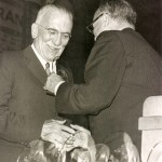 Robert S. Waters receives his hall of fame honor in 1965.