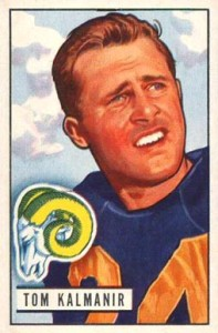 Tom Kalmanir 1951 Bowman Football Card