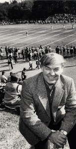 Tommy Yewcic at Conemaugh Valley naming football field Thomas Yewcic Stadium on Oct. 6, 1984