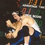 Jody Strittmatter works a move on an opponent.