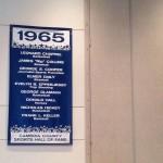 Banner honoring first CCSHOF class
