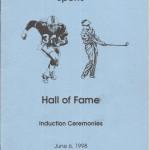 1998 CCSHOF Program cover