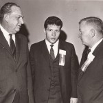 John Kasay and Duffy Daugherty, right, at Cambria County Sports Hall of Fame banquet in 1967.
