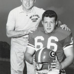 University of Georgia coach Vince Dooley and John Kasay.