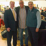 Tom McGough and Pirates Manager Clint Hurdle, middle.