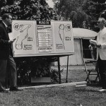 CCSHOF members Bill Wilson, left, and John Goettlicher during a TV broadcast of Sunnehanna Amateur.