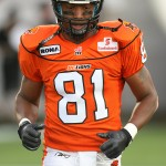 No. 81. Geroy Simon with the BC Lions
