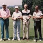 Pete Love, Bob Hope, John Goettlicher and Prosser Mellon at Laurel Valley Golf Club.