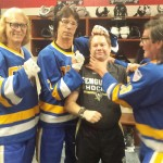 The Hanson Brothers and Dana Heinze