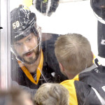 Kris Letang and Chris Stewart