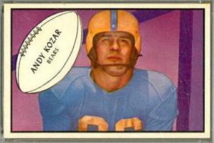 Andy Kozar's Chicago Bears football card