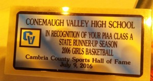 Conemaugh Valley girls basketball state runner-up team honor