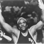 Six-time national champion wrestler Carlton Haselrig of UPJ.