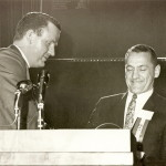 Dick Roberge accepts hall of fame plaque