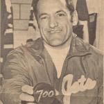 Dick Roberge, 700th goal puck