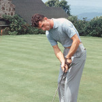 Frank Kiraly works on his putting game.