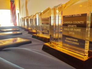 Hall of Fame awards display