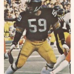 Local police departments, Kiwanis Clubs and Coca-Cola teamed to use Steelers football cards such as this Jack Ham card to teach youngsters values.