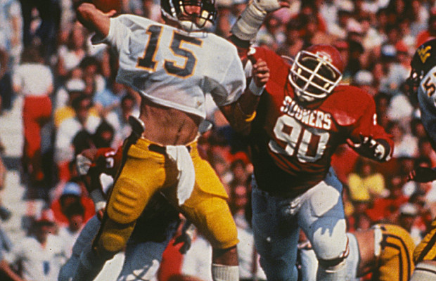 Jeff Hostetler WVU vs Oklahoma