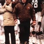 Joe Popp, left, and Browns coach Bud Carson.