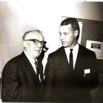 John Mitchell, left, and hockey legend Gordie Howe at hall of fame banquet.