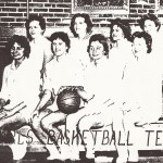 Linda Renzi, top row, third from left, as a player with the Concord University women's basketball team.