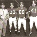 Local ties to the Michigan State 1952 undefeated Spartans team included assistant coach Duffy Daugherty of Northern Cambria, left. Adams Township's Evan Slonac, Windber's Frank Kush and East Conemaugh's Tommy Yewcic were key players on the squad.