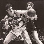 Pat Cummings with the Milwaukee Bucks vs. Washington Bullets.