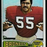 Pete Duranko Topps football card