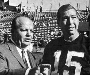 Ray Scott and legendary Packers QB Bart Starr