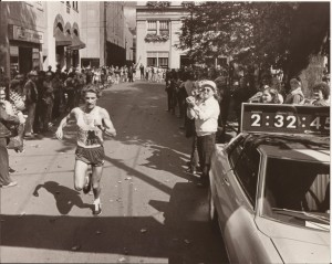 Steve Molnar wins the Johnstown Marathon.